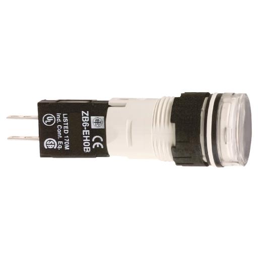 SQD XB6AV1GB 120V WHT RND LED