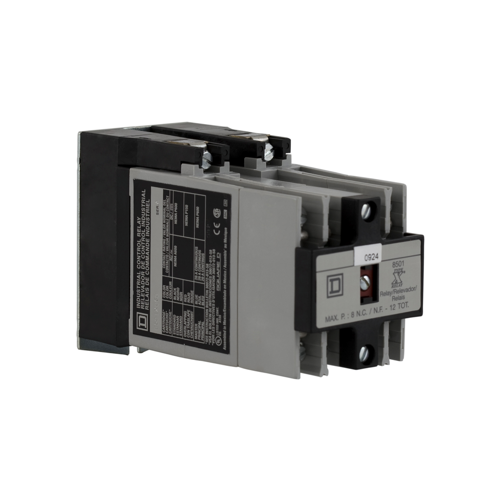 NEMA Control Relay, machine tool, 6 NO, 110/120 VAC 50/60 Hz coil