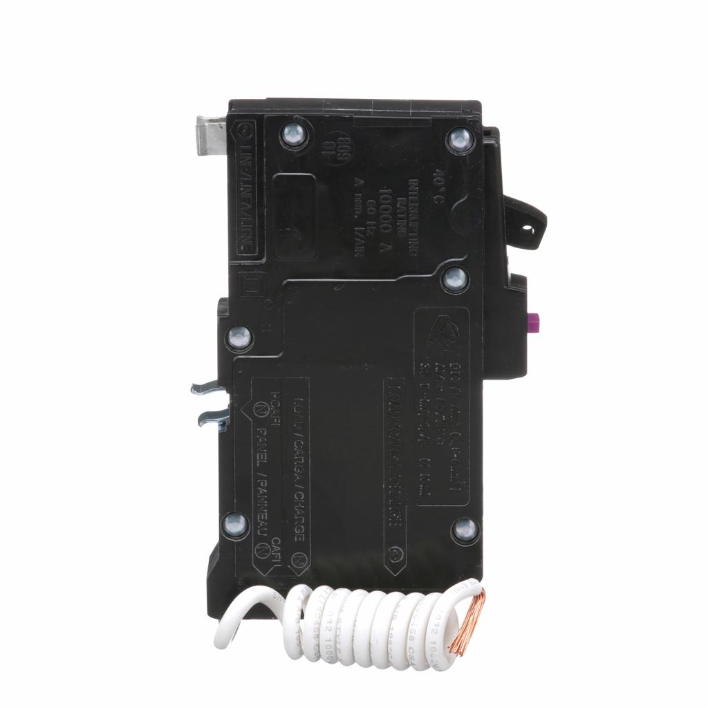 Mini CB, QO, 20 A, 1P, 120 V, 10 kA, Plug in, Dual Func, Pigtail