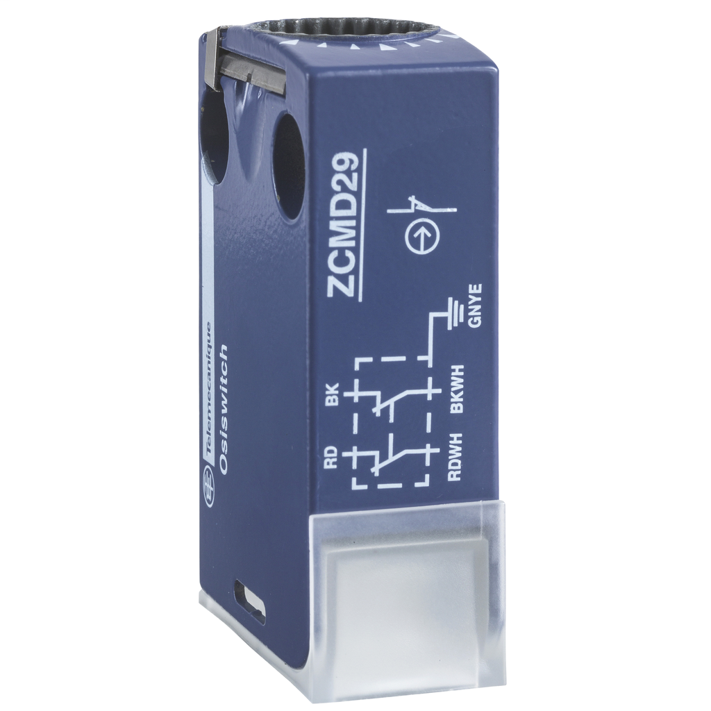 Limit switch body ZCMD - 1C/O - silver - snap action - connection - M12