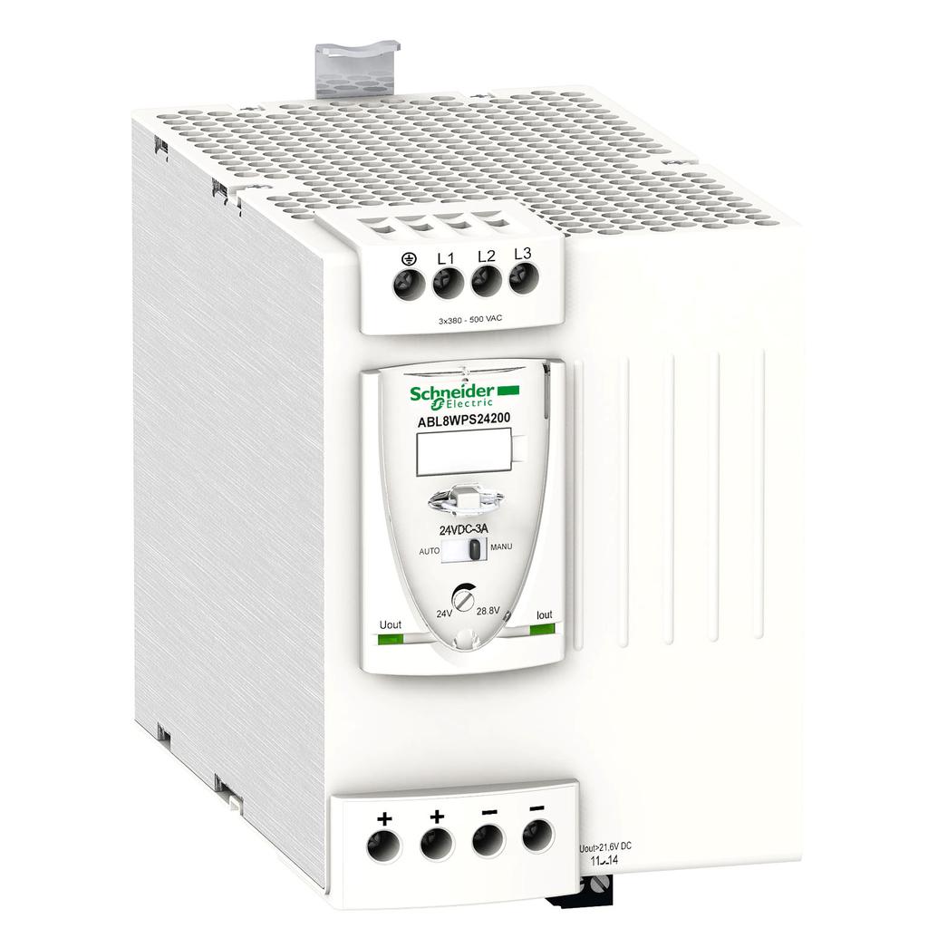 Regulated SMPS - 3-phase - 380..500 V AC - 24 V - 20 A