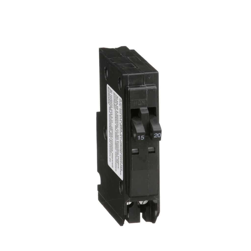 Mini CB, QO Tandem, 15/20 A, 1P, 120/240 V, 10 kA, Plug in