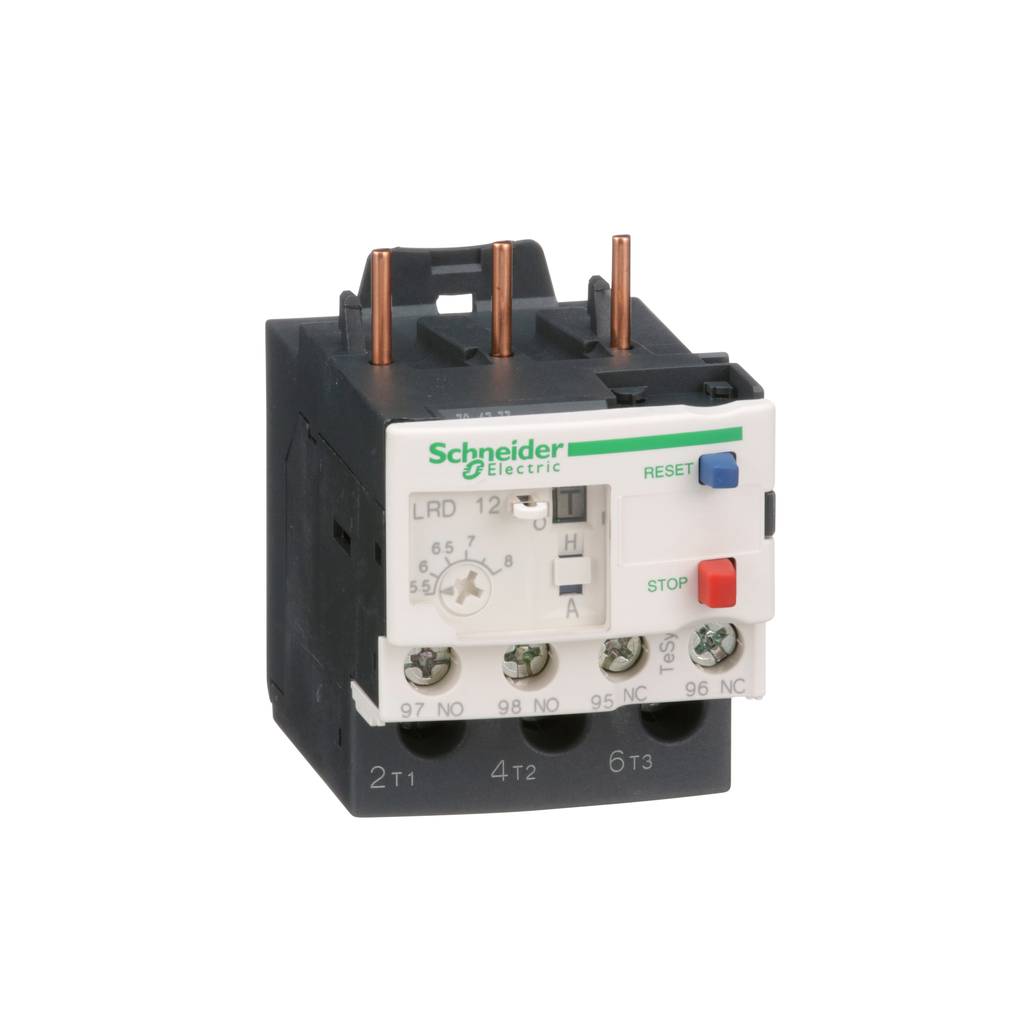 TeSys LRD, thermal overload relay, 5.5 to 8 A, class 10A