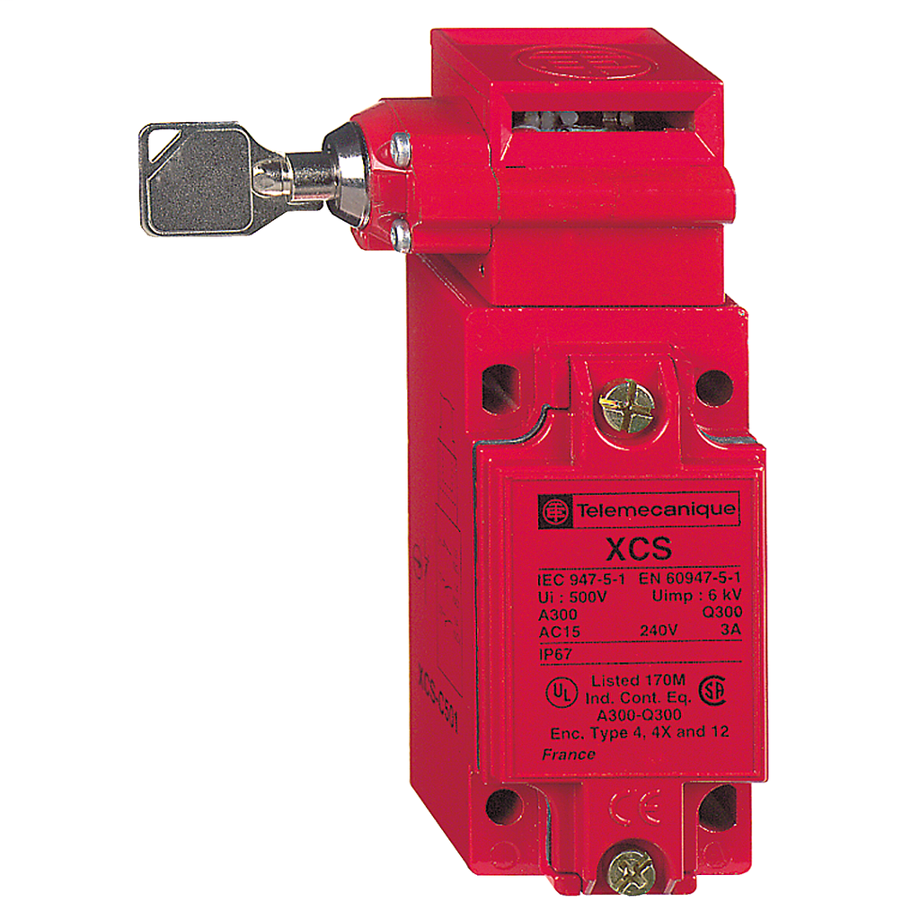 "Metal safety switch XCSC - 2 NC + 1 NO - slow break - 1 entry tapped 1/2"" NPT"