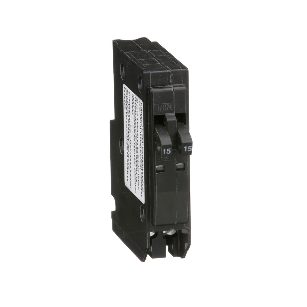 Mini CB, QO Tandem, 15 A, 1P, 120/240 V, 10 kA, Plug in