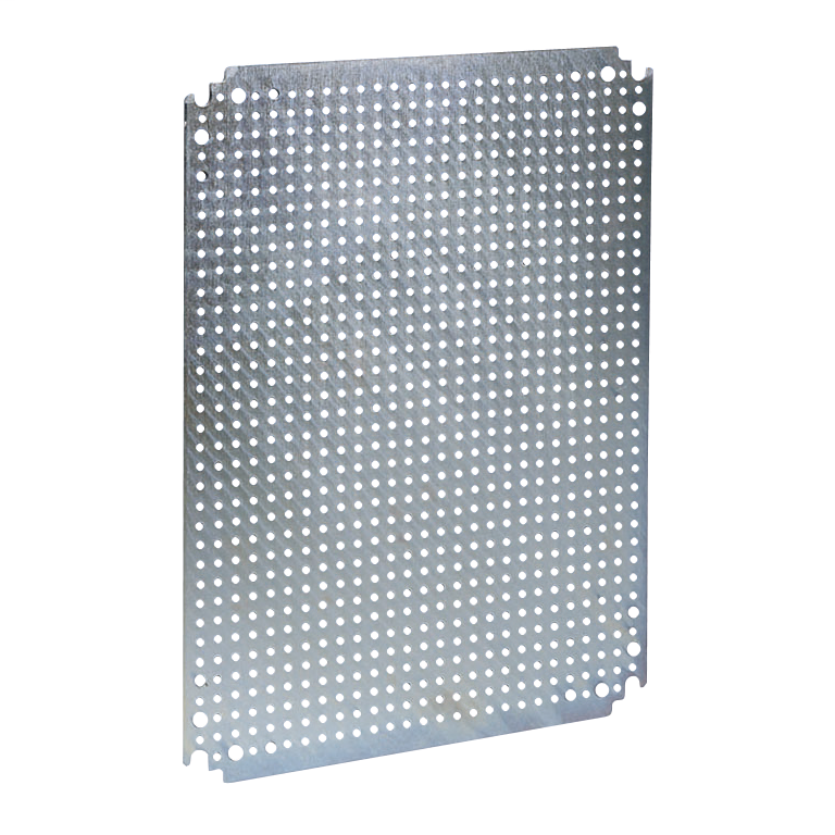 Microperforated mounting plate H600xW600 w/holes diam 3,6mm on 12,5mm pitch
