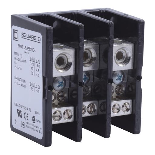 SQD 9080LBA362104 POWER DISTRIBUTION BLOCK 600V 175A