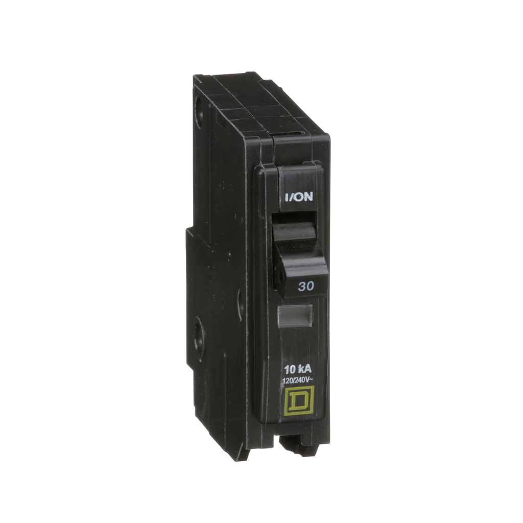 QO mini breaker, 30 A, 1 pole, 120/240 V, 10 kA, plug in