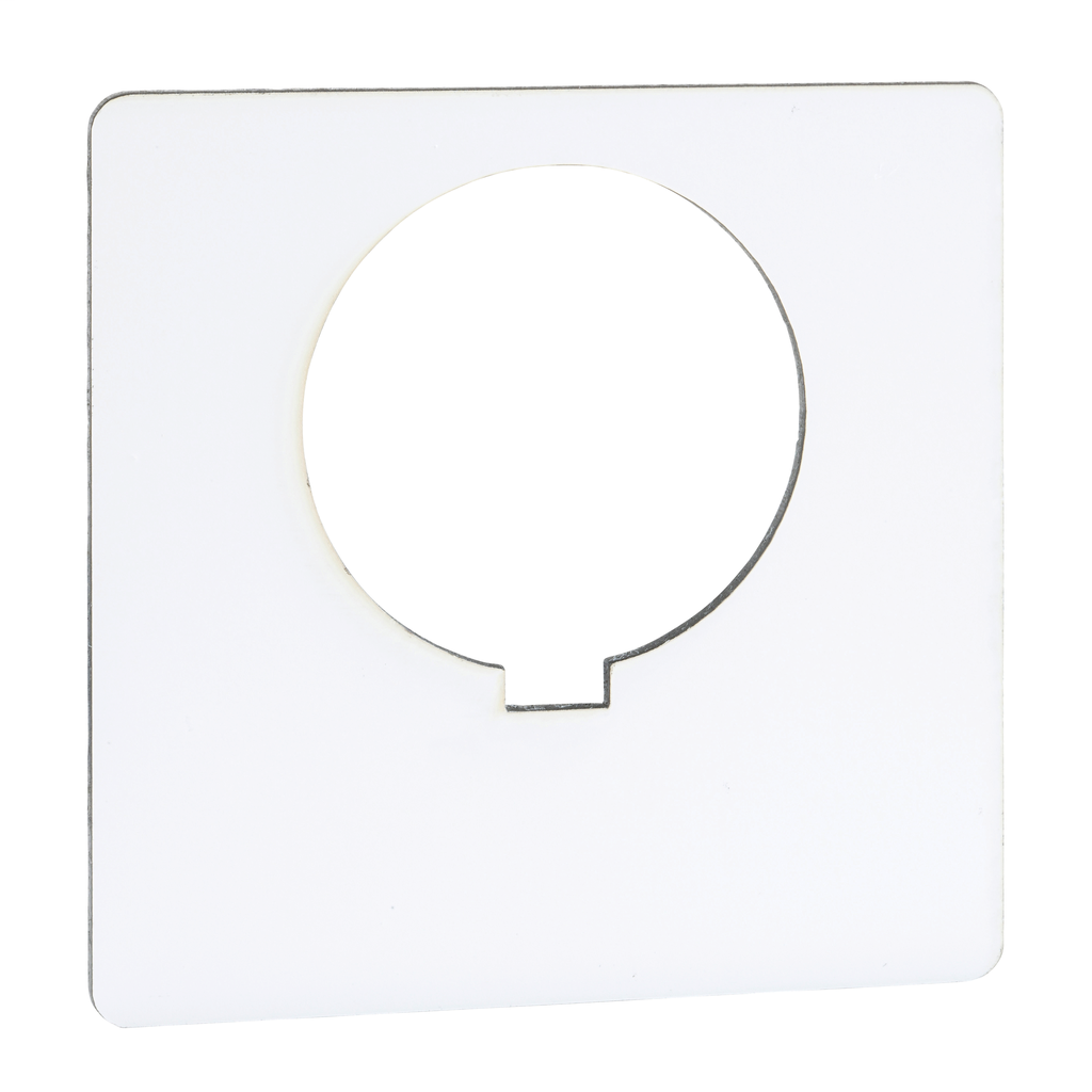 30MM LEGEND PLATE - BLANK (WHITE)