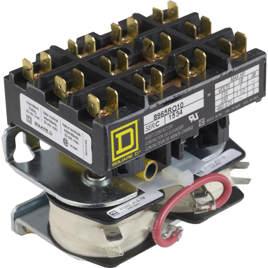 HOIST CONTACTOR 600VAC R +OPTIONS
