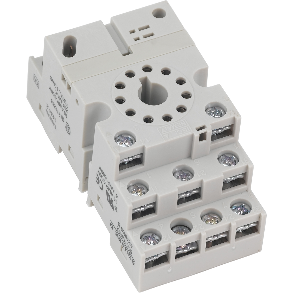 Relay Socket, 11 pin, tubular, double tier, for 8510K relays