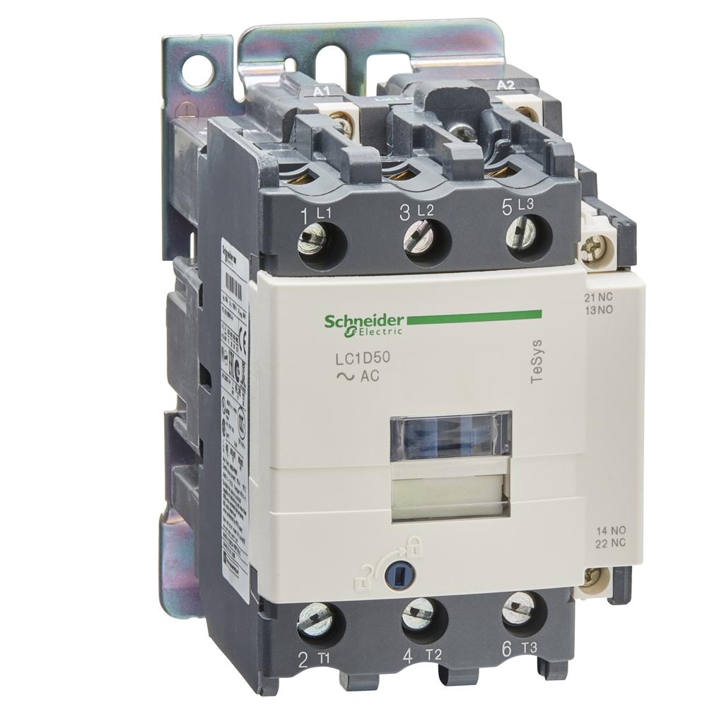 CONTACTOR 600VAC 50AMP IEC +OPTIONS
