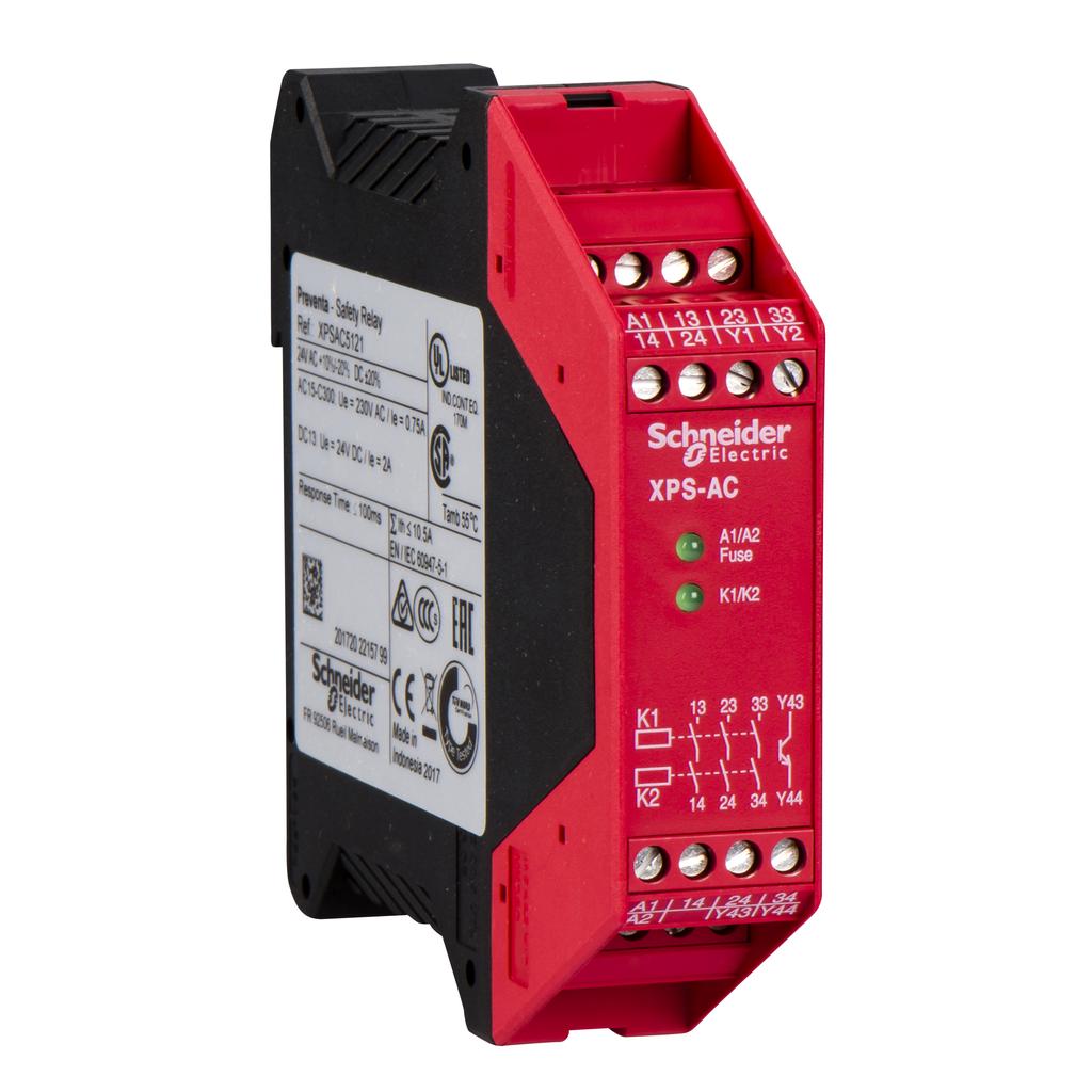 Module XPSAC - Emergency stop - 24 V AC DC