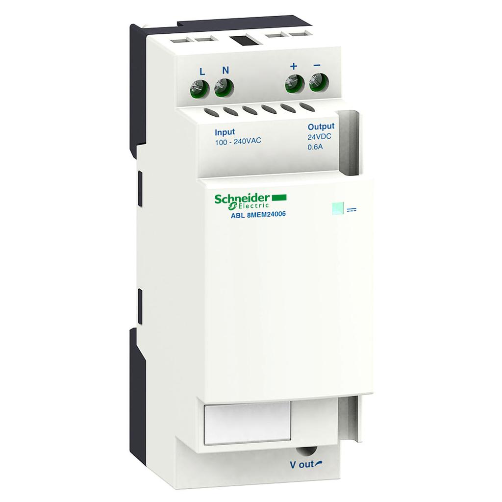 Regulated SMPS - 1 or 2-phase - 100..240 V AC - 24 V - 0.6 A