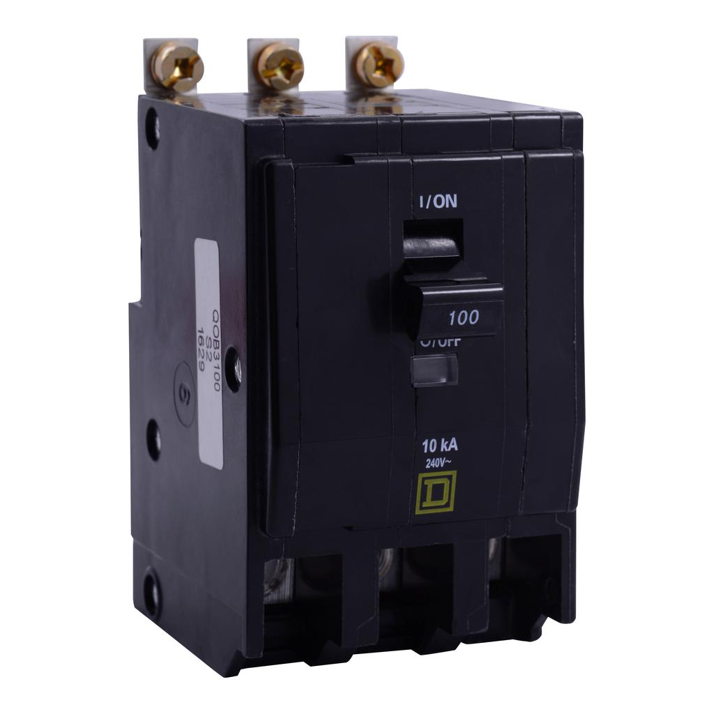 QO mini breaker, 80 A, 3 pole, 120/240 V, 10 kA, bolt on
