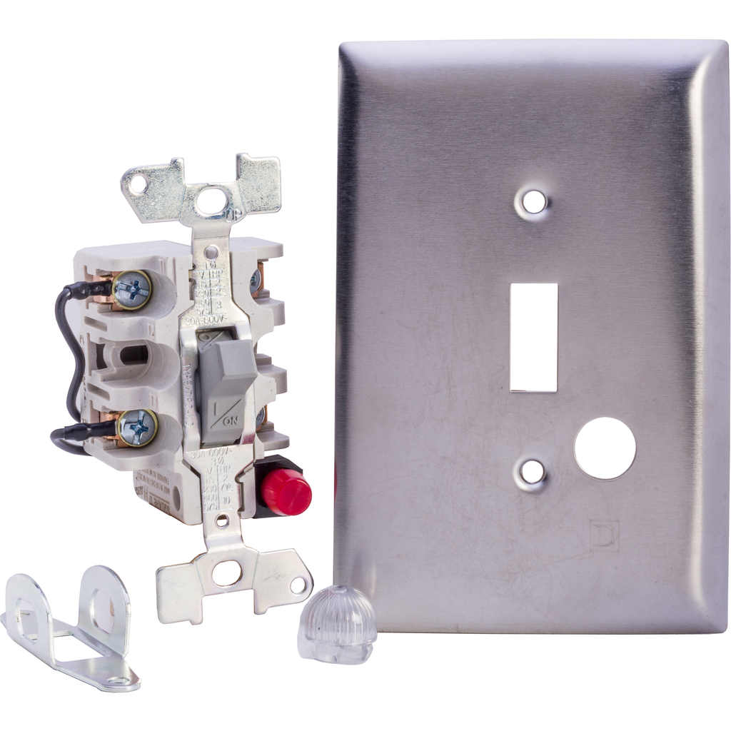 Manual Switch - SS Flush - 3P - Toggle Operated - Red Indicator - 600VAC