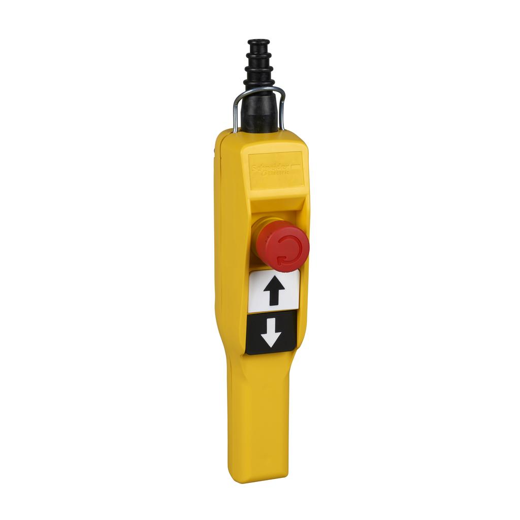 Pendant station XAC-A pistol grip - 2 push buttons 1 Emergency stop