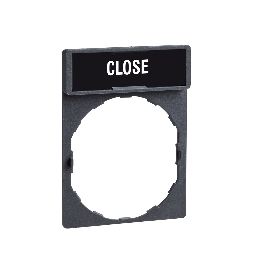 Legend holder 30 x 40 mm with legend 8 x 27 mm with marking CLOSE