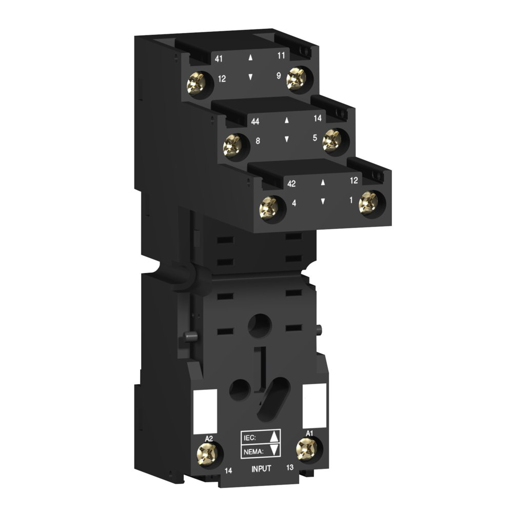 Socket RXZ - separate contact - 12 A - < 250 V - connector - for relay RXM2..