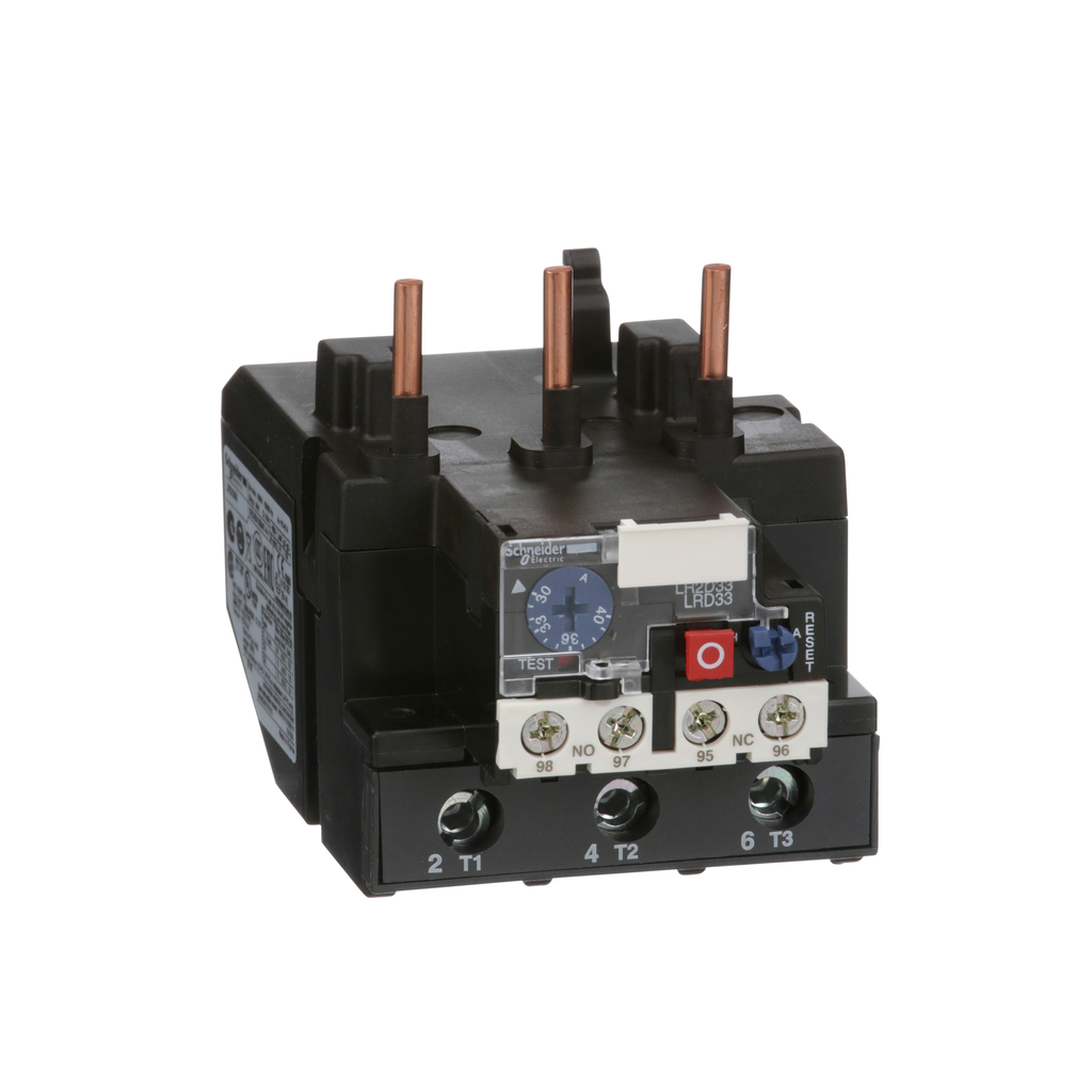 TeSys LRD, thermal overload relay, 30 to 40 A, class 10A, for LC1D80 and LC1D95