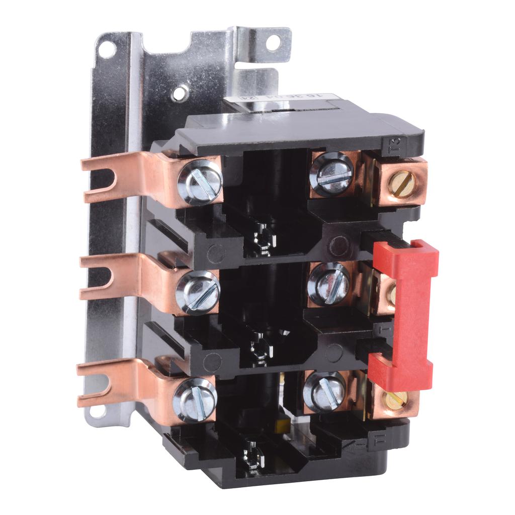 Melting alloy overload relay, NEMA Size 2, three pole, 45 A, 600 VAC