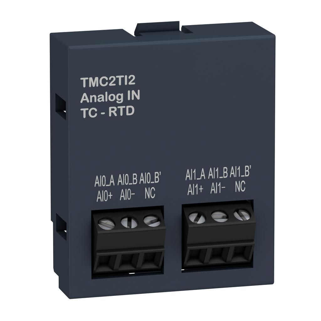 Cartridge M221 - 2 temperature inputs - I/O extension