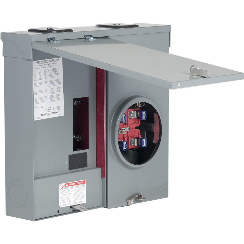 METER MAIN RINGLESS T-SURFACE 200A