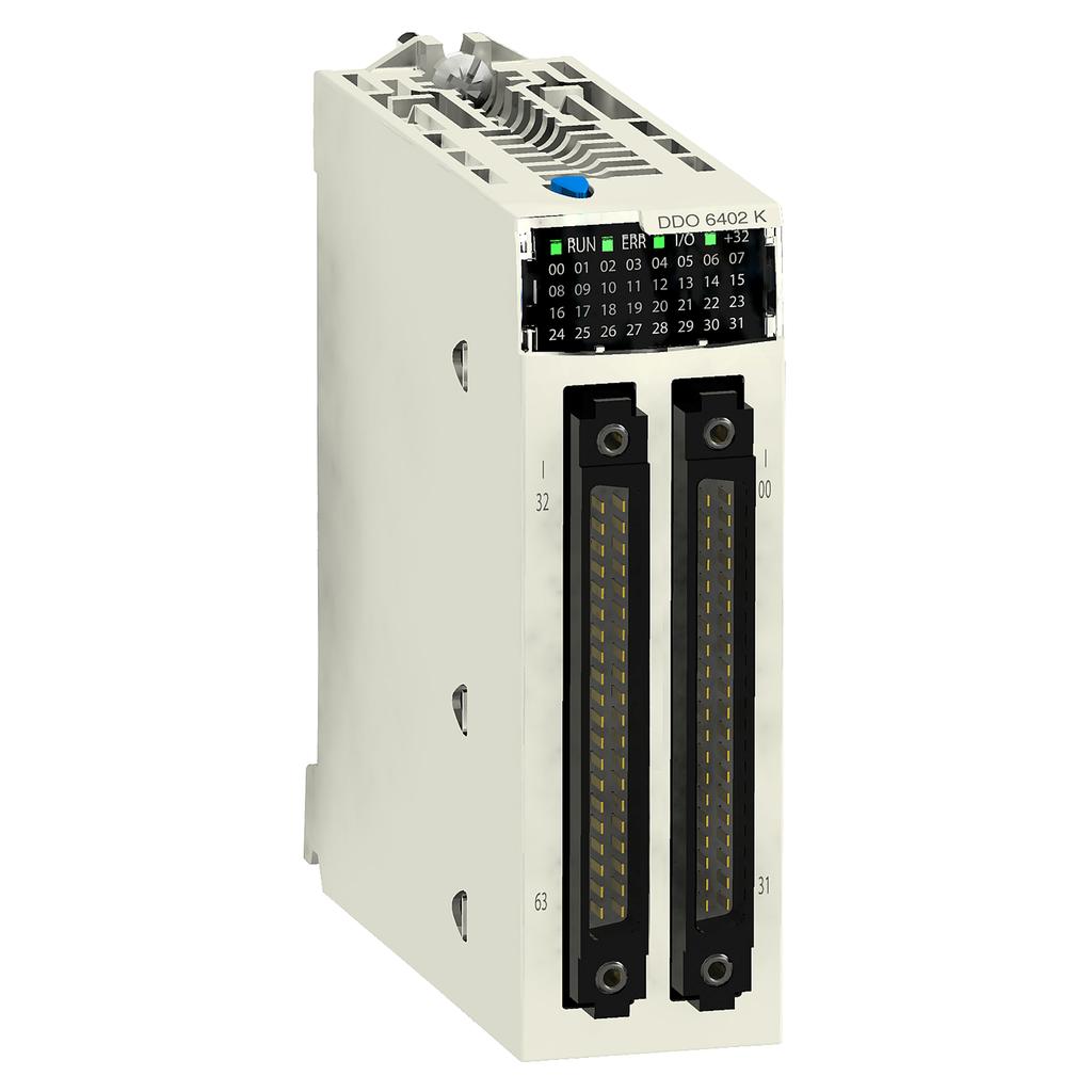 Discrete output module X80 - 64 outputs - 24 V DC positive