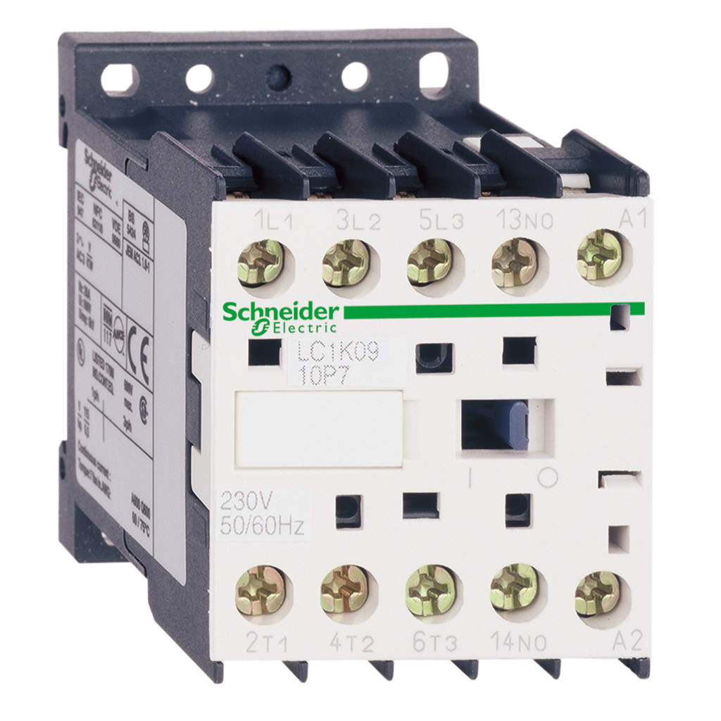 TeSys K contactor - 3P - AC-3 <= 440 V 12 A - 1 NC aux. - 230 V AC coil