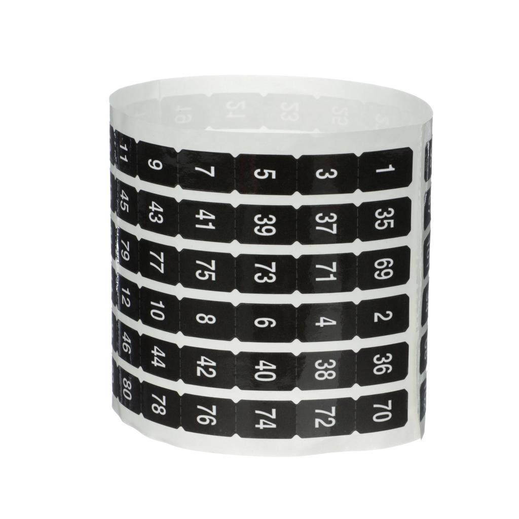 NQ Panelboard Acc. Number Strip Odd/Even, 1-102