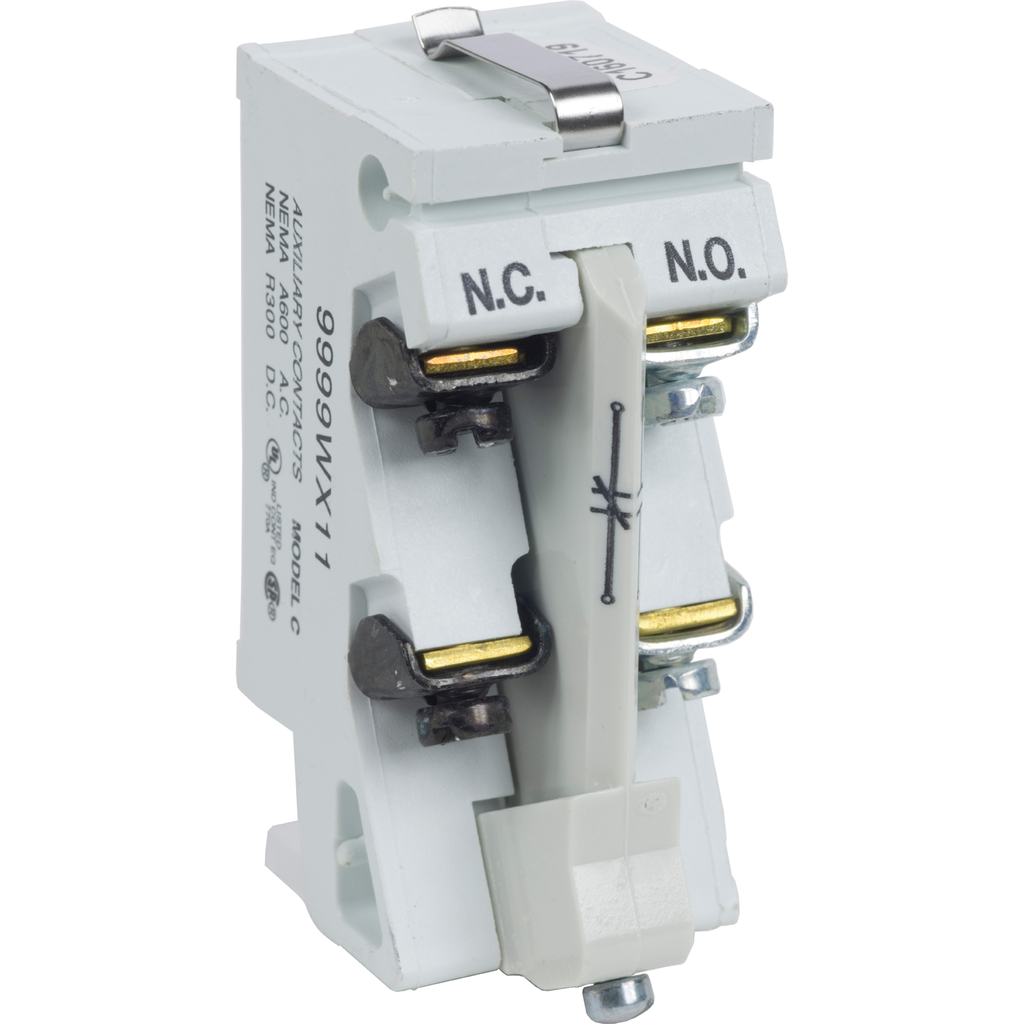 Auxillary contact, vacuum contactor, 1NO-1NC isolated contacts, non-convertible