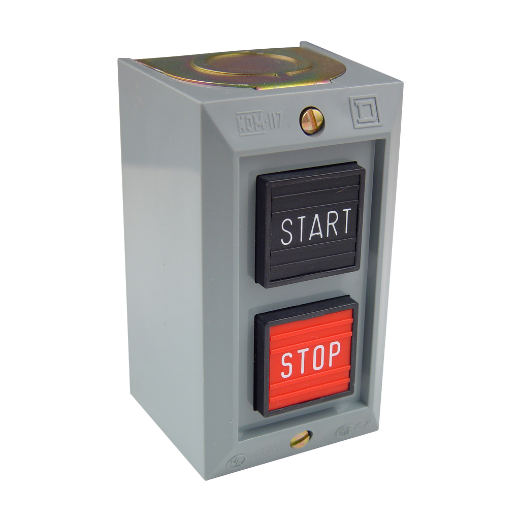 Push Button Control Station, 2 momentary push buttons, START STOP, 600 VAC, 5 A, NEMA 1