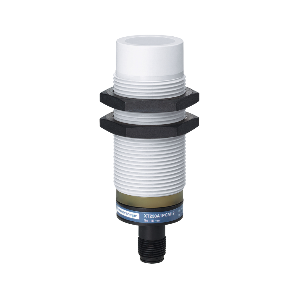 Capacitive sensor - XT1 - cylindrical M30 - plastic - Sn 15 mm - 12..24 V DC