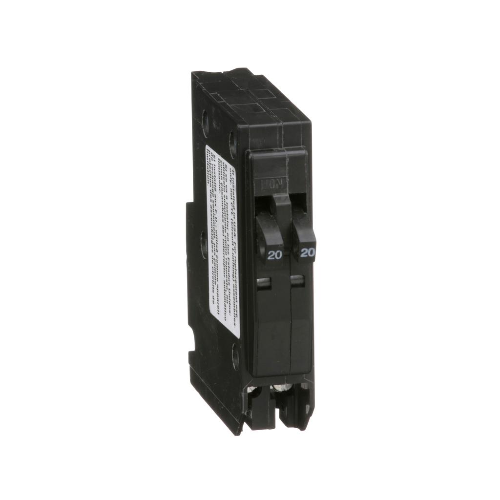 Mini CB, QO Tandem, 20 A, 1P, 120/240 V, 10 kA, Plug in