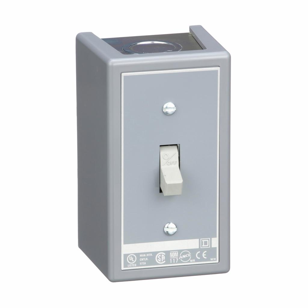 Manual switch, 3 P, 30 amp, toggle operated, no pilot light, 600 VAC, NEMA 1 enclosure