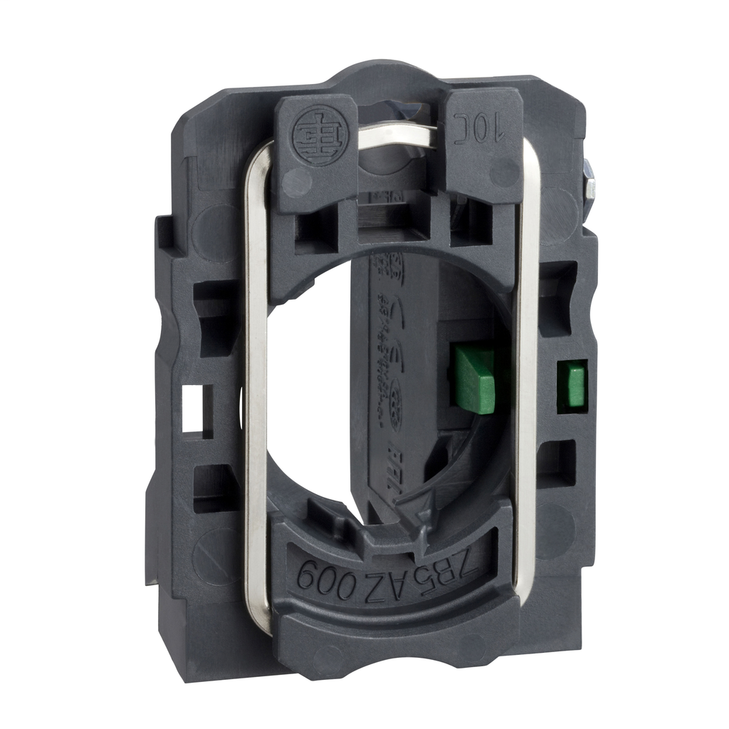 Harmony, 22mm Push Button, XB5A operators, contact block, with mounting collar, 1 NO, screw clamp terminal