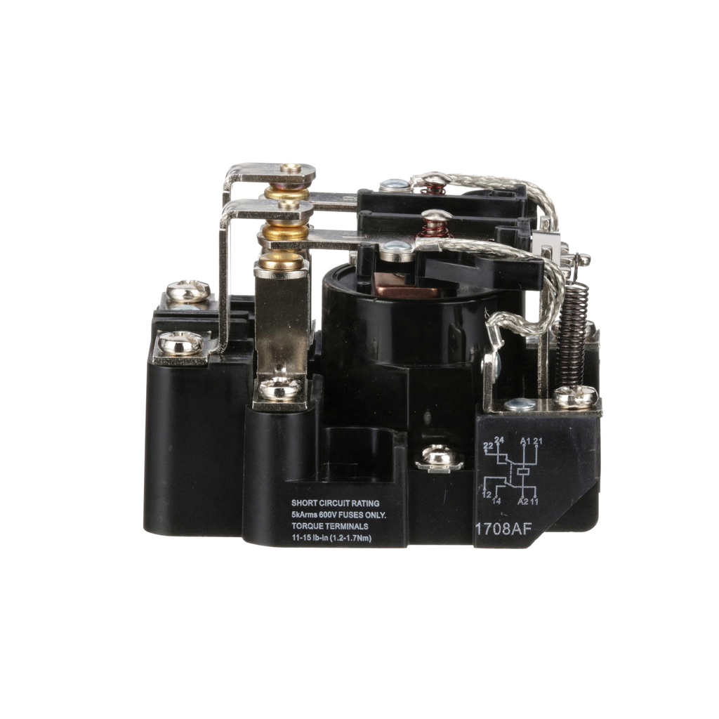Power Relay, DPDT, 2 NO and 2 NC, 1.5 HP, 30 A resistive at 300 V, 120 VAC coil