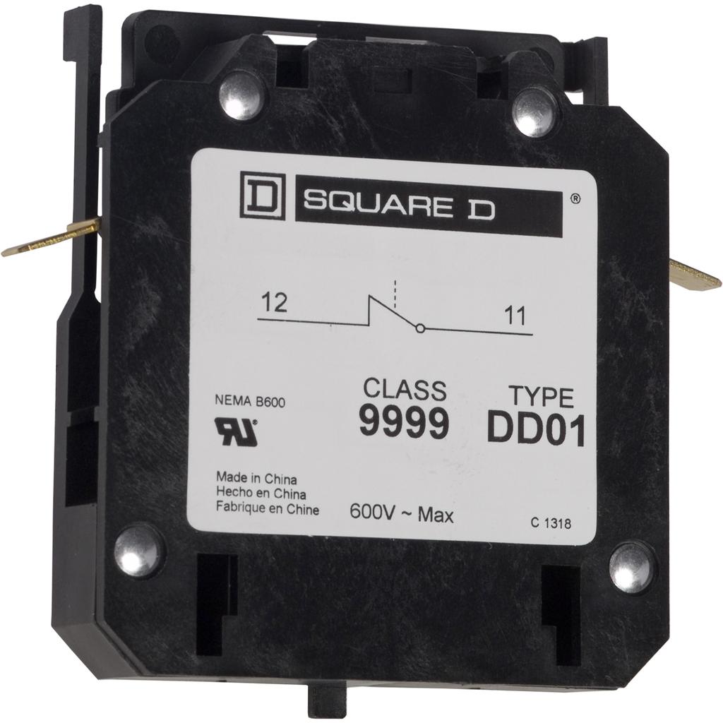 Auxillary contact DPA, 1 NC, 20-40 A contactor, 3A at 120VAC