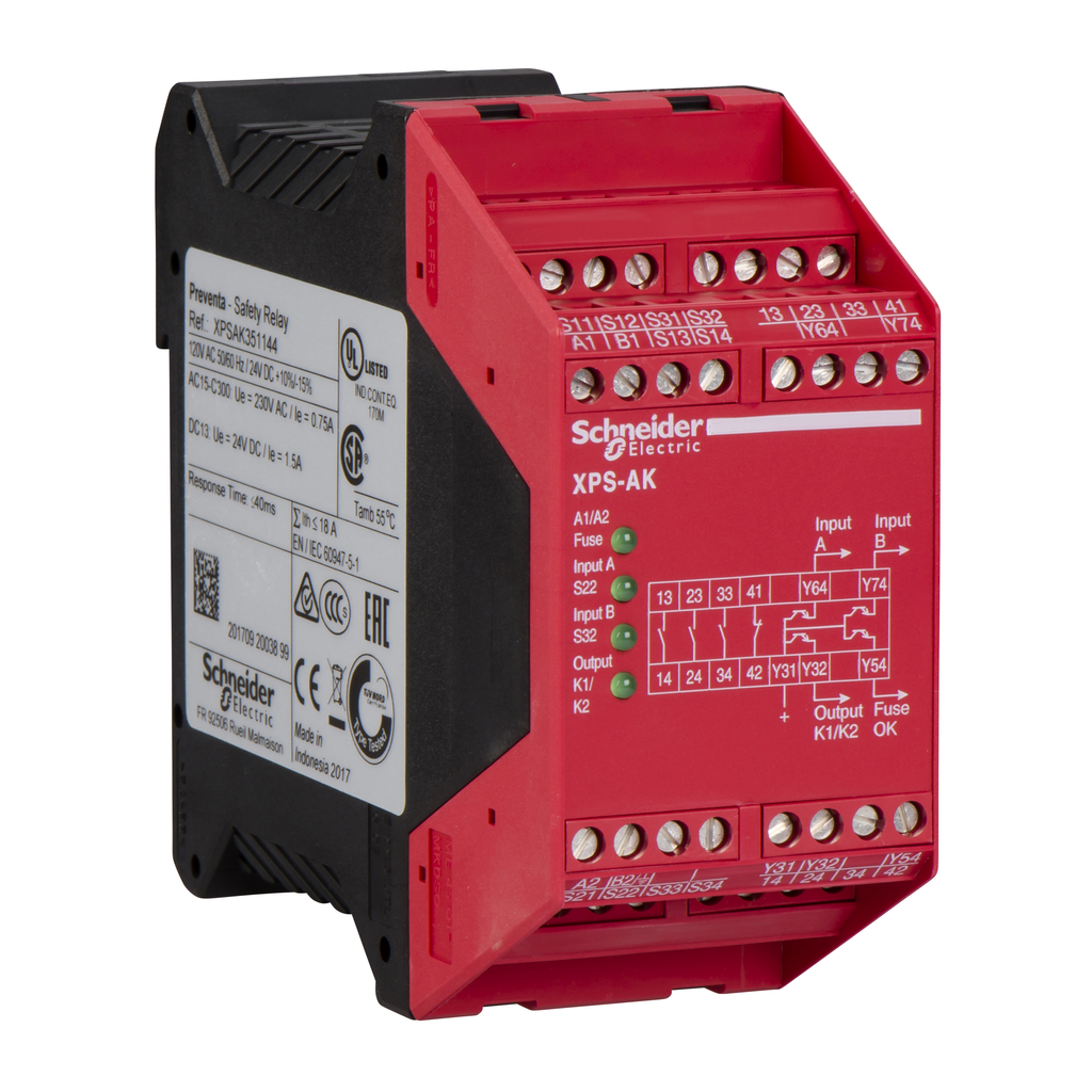 Module XPSAC - Emergency stop - 115 V AC