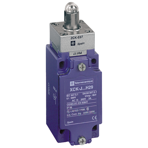 SQD XCKJ167H7 LIMIT SWITCH 240VAC 10AMP XCKJ +OPTIONS