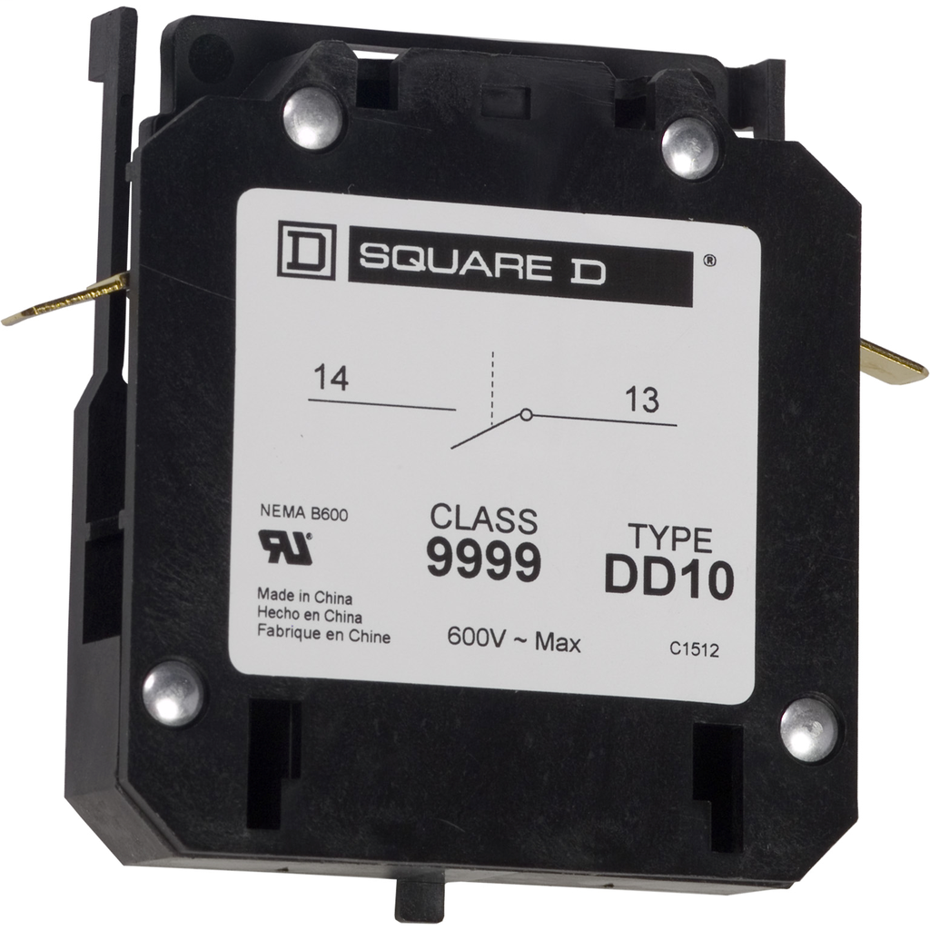 Auxiliary contact, 8910DPA, 1 NO, 20 to 40 A contactor, 3 A at 120 VAC
