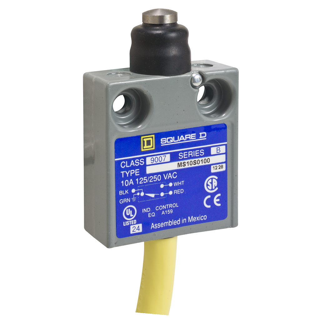 LIMIT SWITCH 240VAC 10AMP MS +OPTIONS