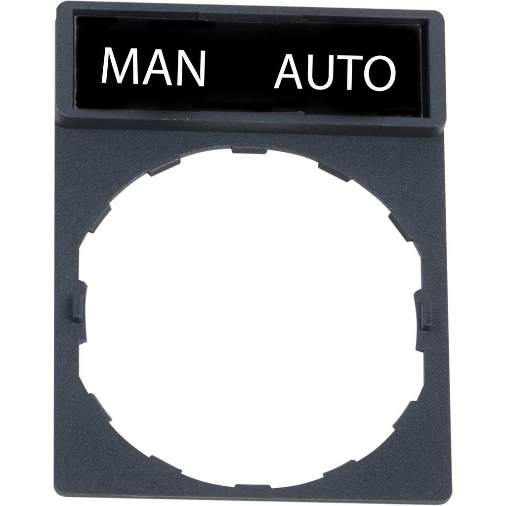 Marcked legend for legend holder Ø22mm - MAN AUTO