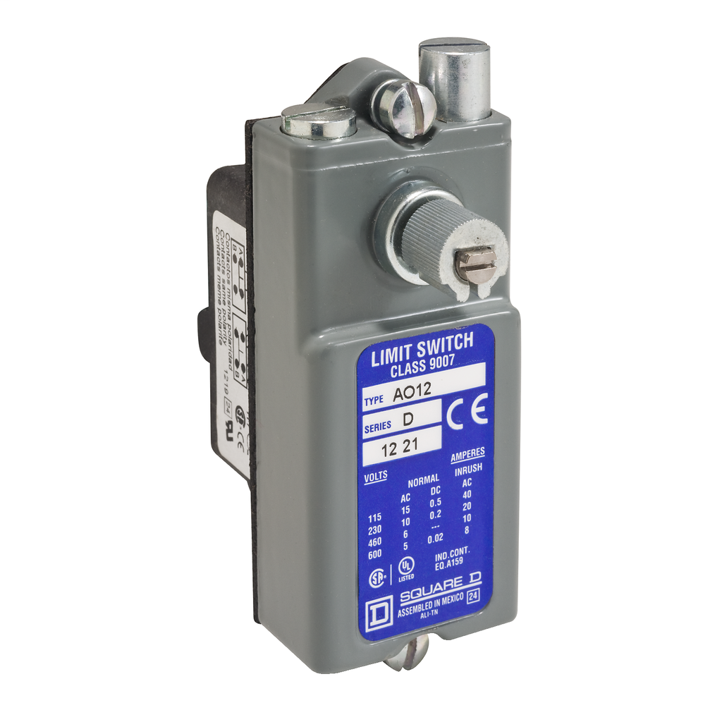 LIMIT SWITCH 600VAC 15AMP AO +OPTIONS