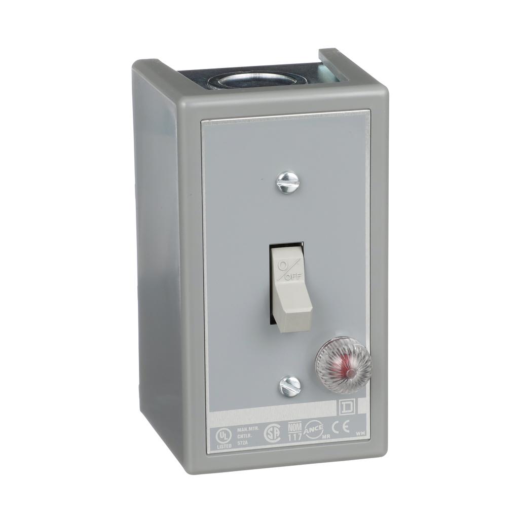 Manual Switch - NEMA 1 - 2P - Toggle Operated - Red Indicator - 600VAC