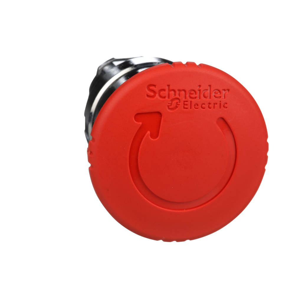 Harmony, 22mm Push Button, emergency stop head, trigger and latching turn release, red, 40 mm mushroom, unmarked