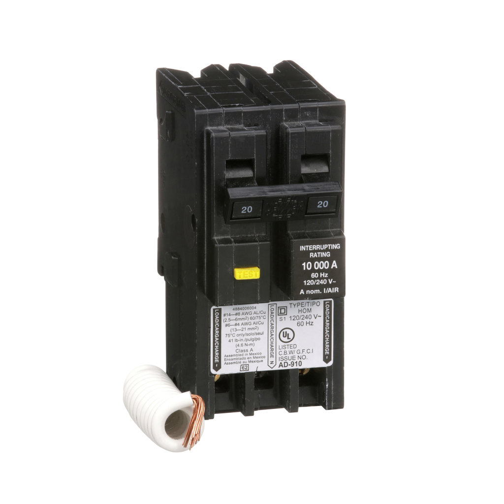 MINIATURE CIRCUIT BREAKER 120/240V 20A