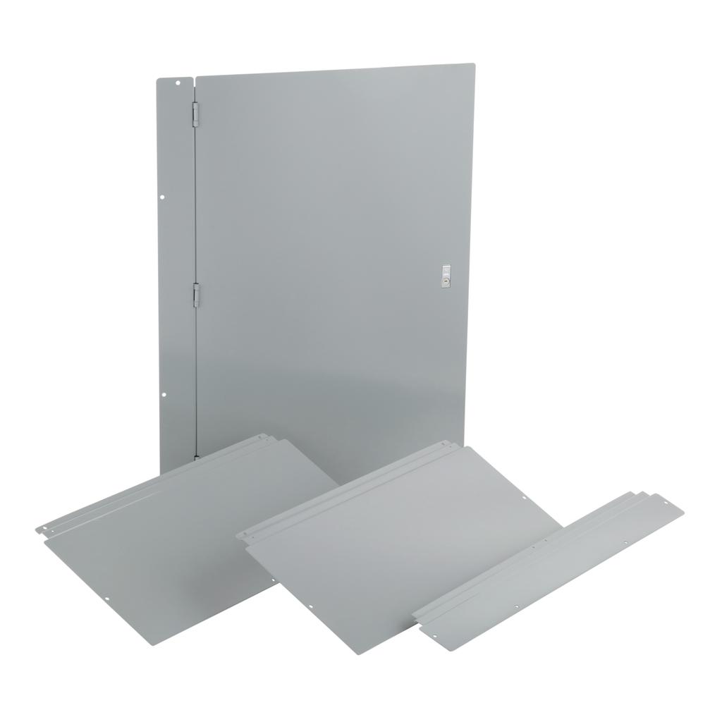 Trim, I-Line PNLBRD, hcm, surface, 4 pcs, w/door, 32x64x8.25 in