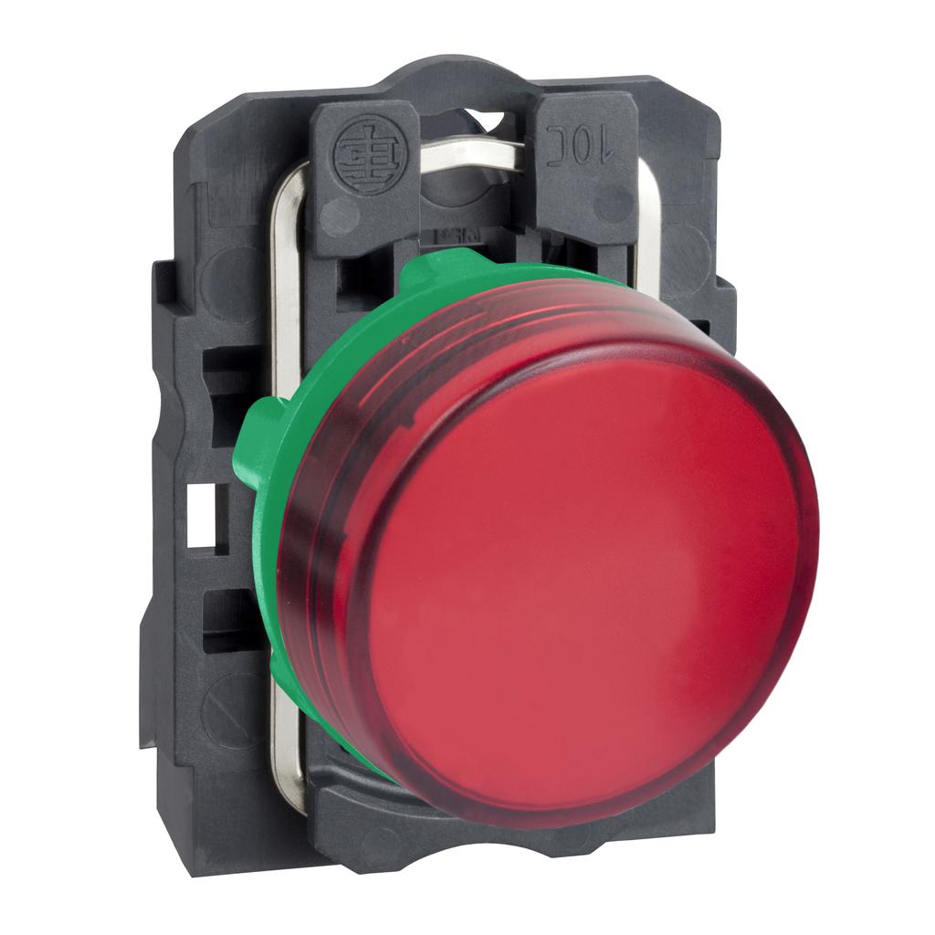 Harmony, 22mm pilot light, red lens, 120 V LED