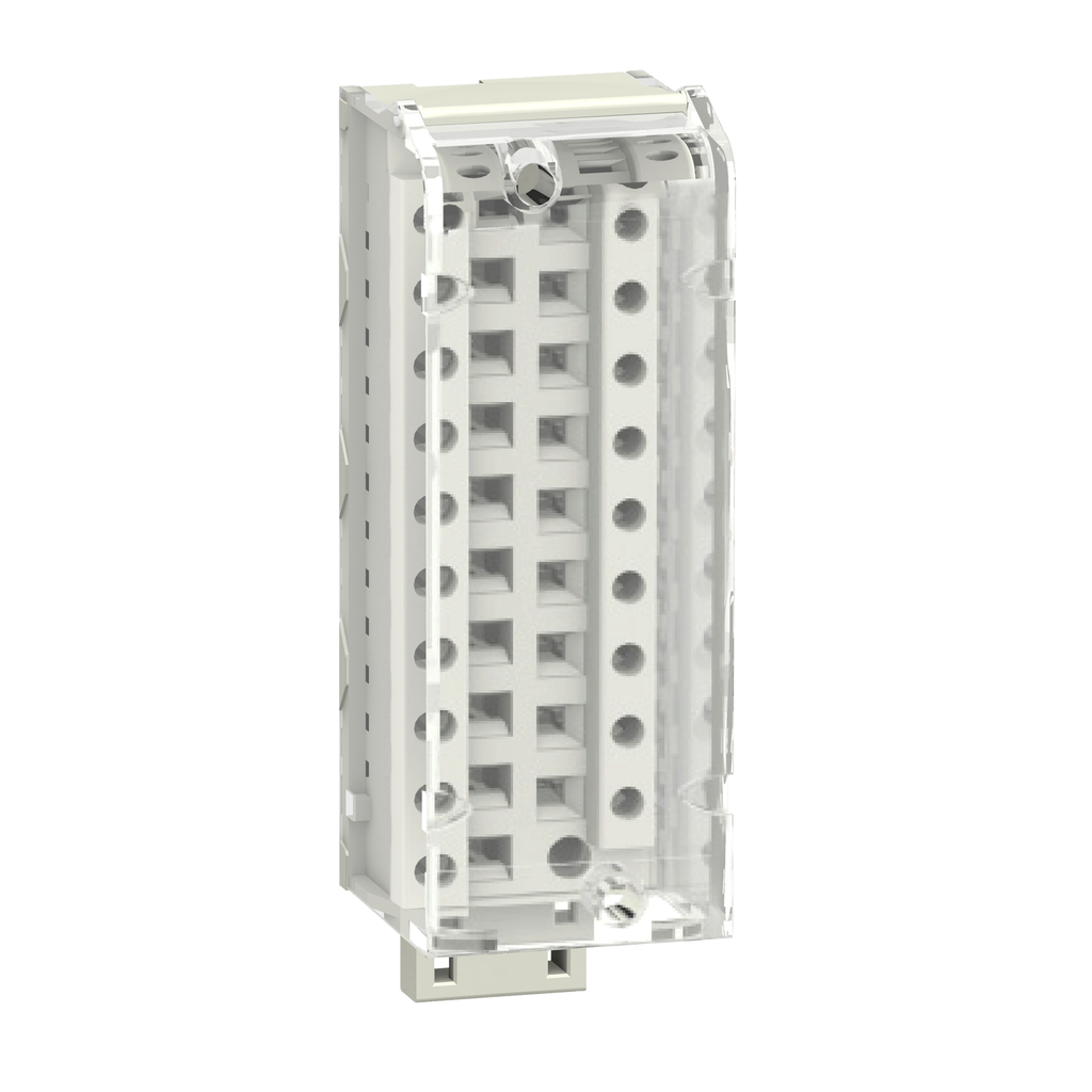 Modicon M340, removable screw clamp terminal block, 20 pins, 1 or 2 x 0.34 to 1.5 mm2